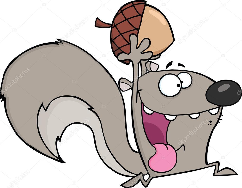 Ipastock scoiattolo grigio pazzo personaggio dei cartoni