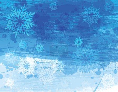 Natale sfondo acquerello blu