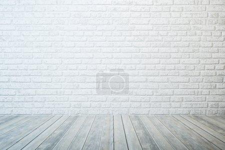stanza bianca vuota<br>