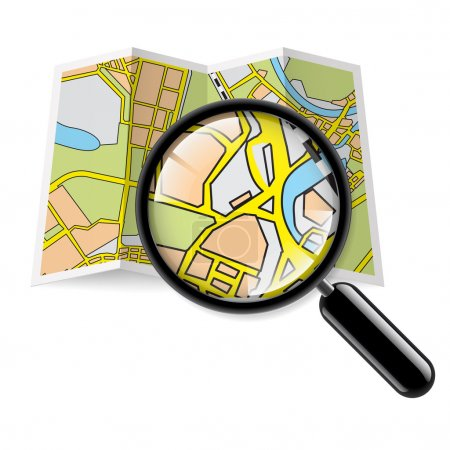 Mappa opuscolo con zoom