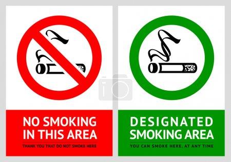 Etichette vietato fumare e fumare -...