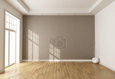 stanza vuota marrone