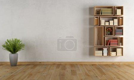 vuoto interiore con libreria a pare...