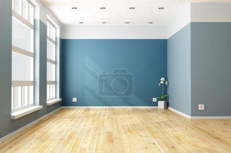 soggiorno blu vuota<br>