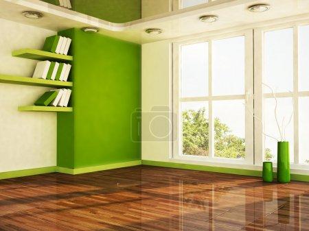 Scena di interior design con una gr...