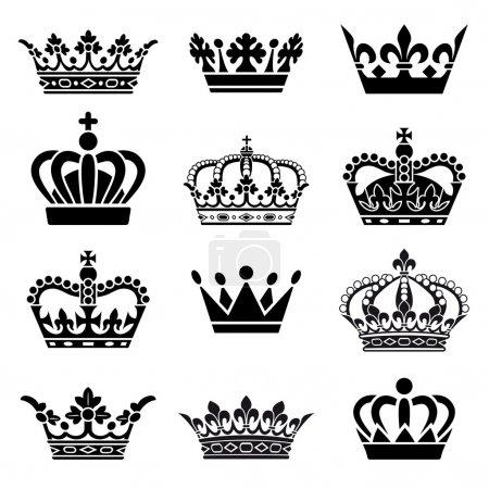 set corona vettoriale