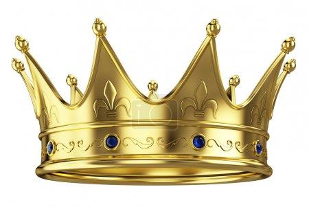 corona d'oro, isolato su sfondo bia...
