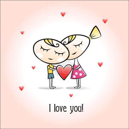 cartolina di San Valentino. ragazza...