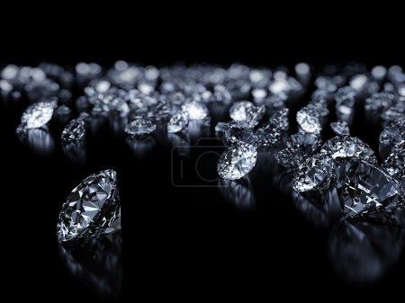diamanti su nero backgorund