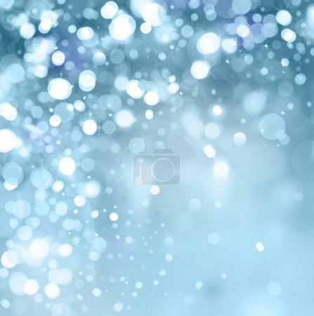 luci su sfondo blu.<br>