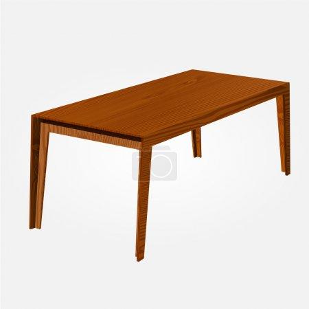 Tavolo in legno vettoriale. Illustr...