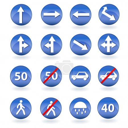 Cerchio segnaletica stradale blu. I...