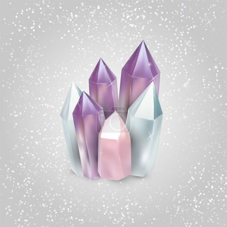 illustrazione vettoriale di cristal...