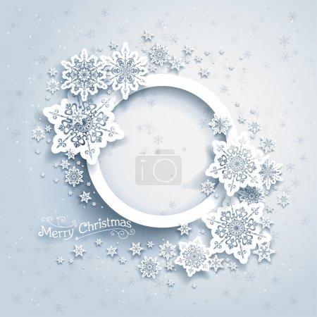 cornice di Natale sullo sfondo neve