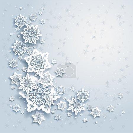 sfondo invernale con fiocchi di nev...