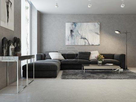 interni moderni del salotto