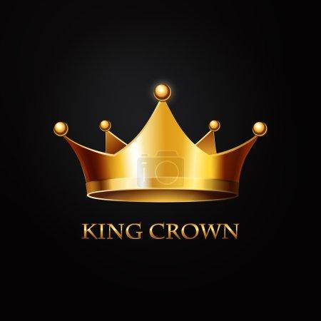Corona d'oro sul nero
