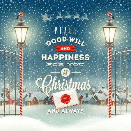 Christmas greeting typeontwerp met ...