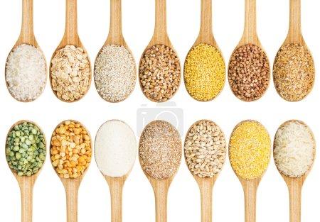 Raccolta di cereali secchi
