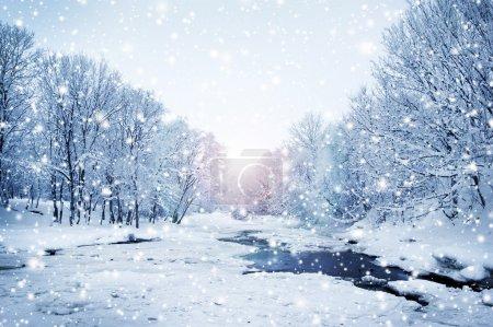paesaggio di natura invernale