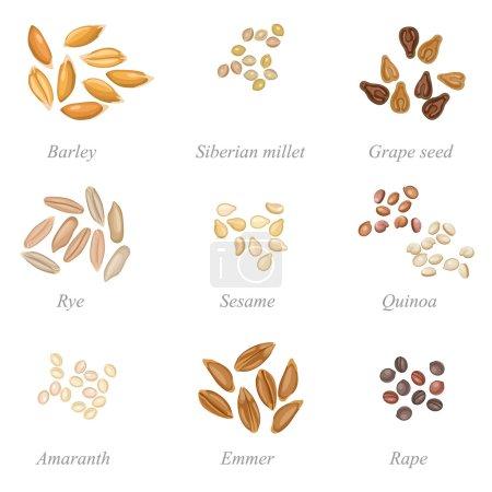 Icona serie di cereali parte 2