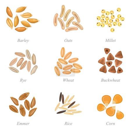 Serie di icone di cereali parte 3
