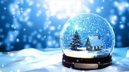 natale neve globo fiocco di neve co...