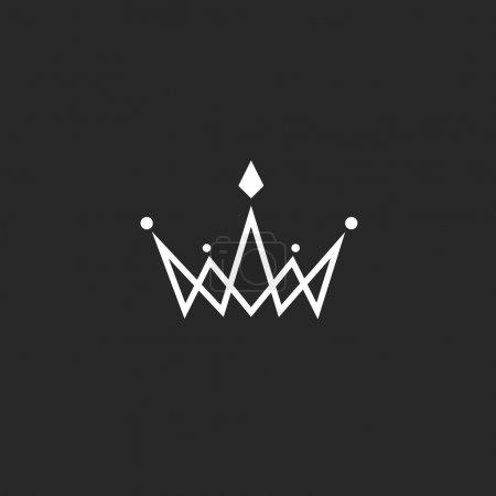 Monogramma di logo corona
