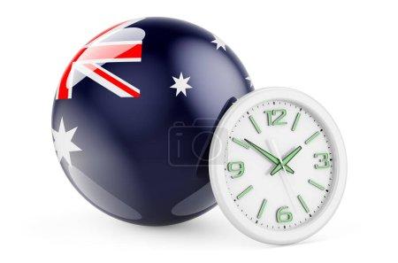 Bandiera Australia con orologio. Te...