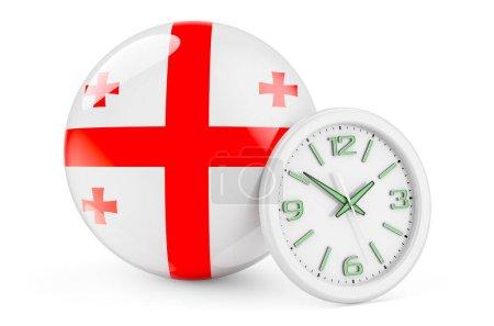 Bandiera georgiana con orologio. Te...