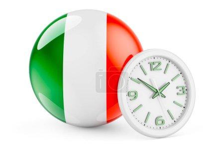 Bandiera irlandese con orologio. Te...