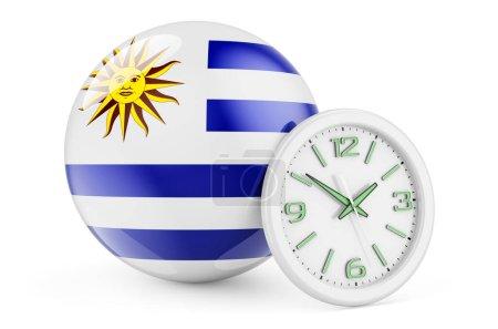 Bandiera uruguaiana con orologio. T...