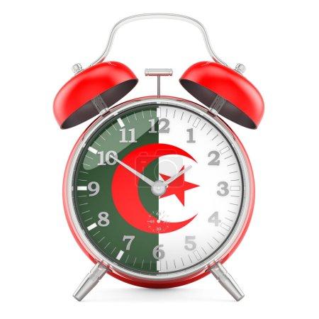 Sveglia con bandiera algerina, rend...