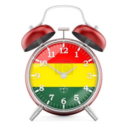 Sveglia con bandiera della Bolivia,...