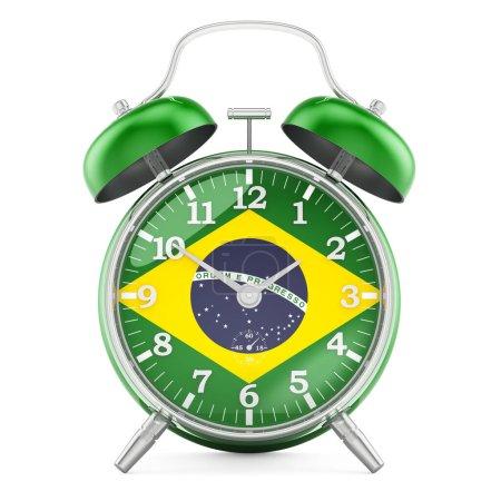 Sveglia con bandiera del Brasile, r...