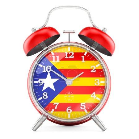 Sveglia con bandiera della Catalogn...