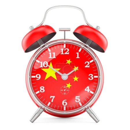 Sveglia con bandiera della Cina, re...
