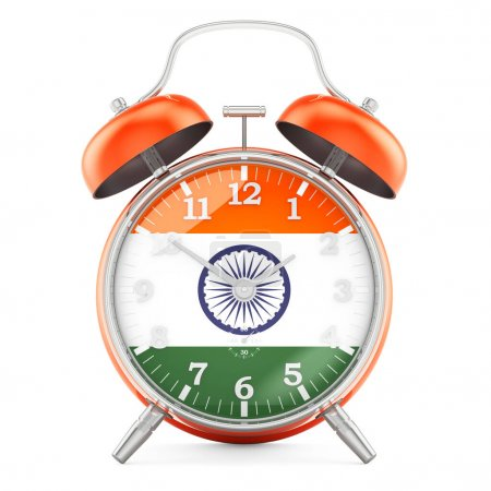 Sveglia con bandiera dell'India, re...