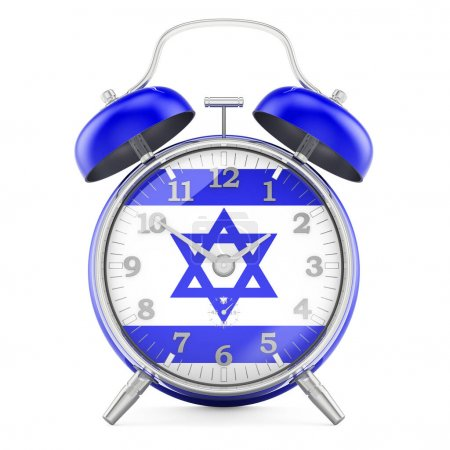 Sveglia con bandiera di Israele, re...