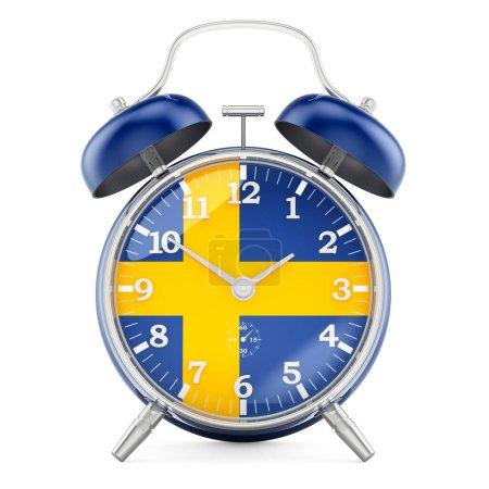 Sveglia con bandiera svedese, rende...