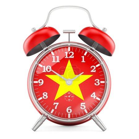 Sveglia con bandiera del Vietnam, r...