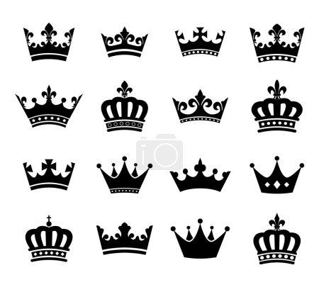 Raccolta di corona sagoma simboli V...
