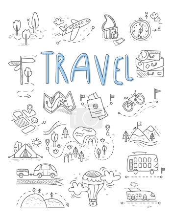 Viaggi, icone campeggio