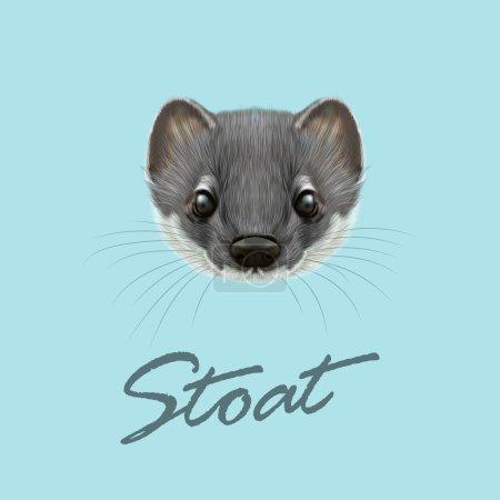 Vector Illustrated portrait of Stoa...