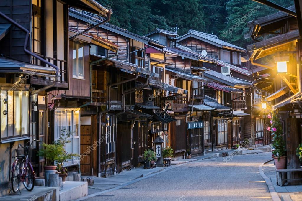 Ipastock narai juku giappone 4 settembre 2017 vista for Architettura giapponese tradizionale