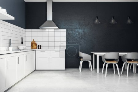 Nuovo interno cucina bianca