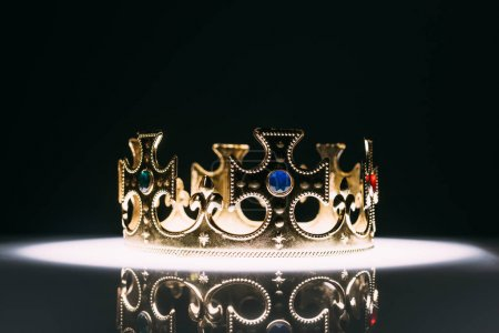 retro corona d'oro con pietre prezi...