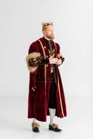 bello re con corona guardando lonta...