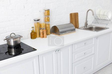 minimalista moderno interno cucina ...