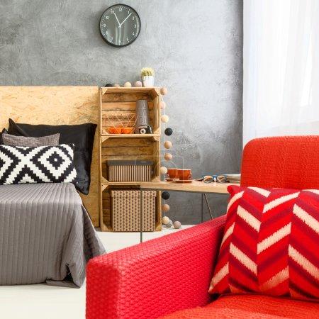 Ipastock camera da letto contemporanea con mobili moderni - Mobili moderni camera da letto ...